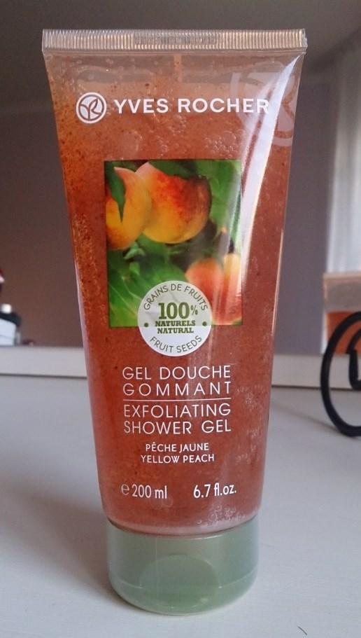 Yves Rocher Exfoliating Shower Gel «Yellow Peach» Отшелушивающий гель для душа «Сочный персик»