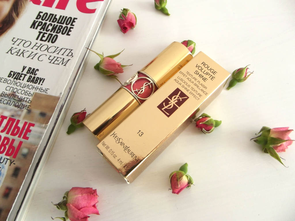 "Yves Saint Laurent Rouge Volupte Shine Lipstick ""Pink in Paris"" 13 Губная помада"