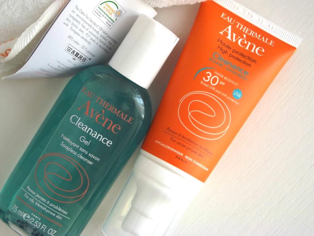 Avene Набор: Cleanance Sunscreen 30 SPF High Protection Солнцезащитный крем & Cleanance Gel Soapless Cleanser Гель для умывания