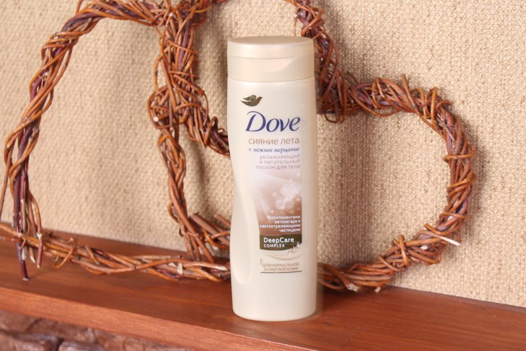 """Dove Deep Care Complex """"Сияние лета"""" Увлажняющий и питательный лосьон для тела + нежное мерцание"""