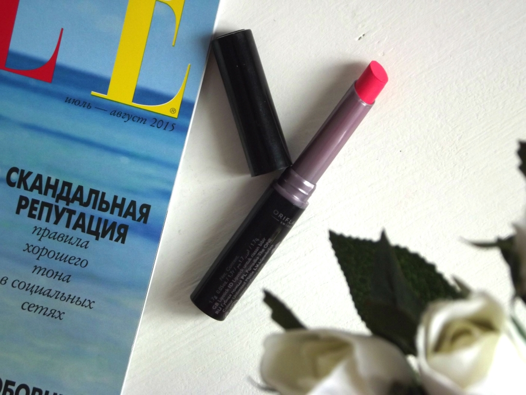 "Oriflame The One Colour Unlimited Matte Lipstick ""Vivid Pink"" Матовая помада"