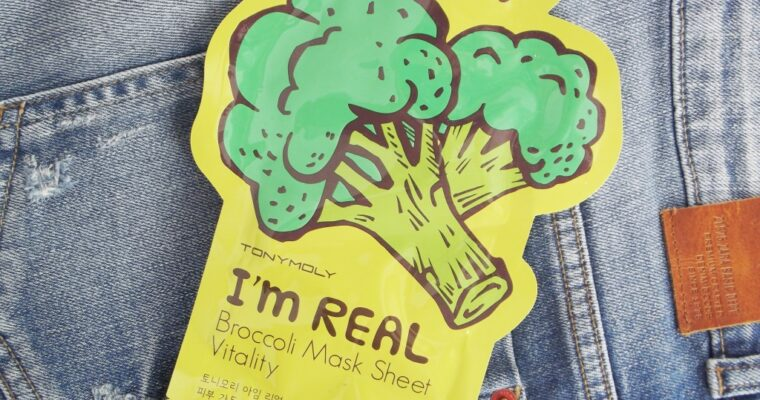 Tony Moly I'm Real Broccoli Mask Sheet Vitality Маска для лица с экстрактом брокколи