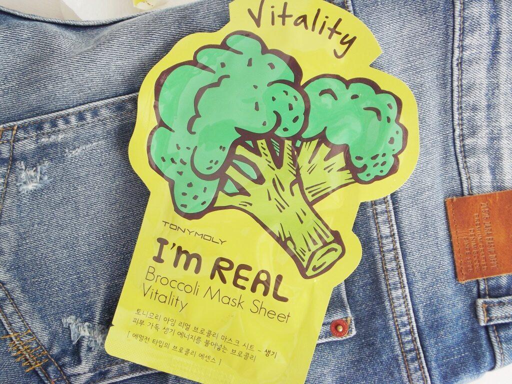 Tony Moly I'm Real Broccoli Mask Sheet Vitality Маска для лица с экстрактом брокколи