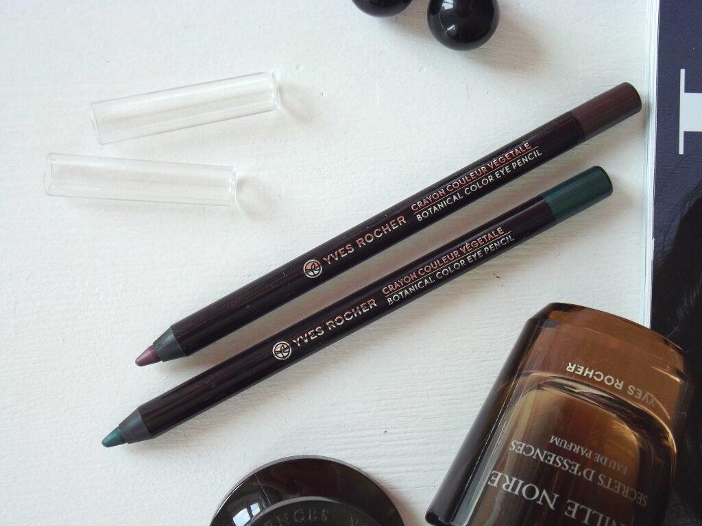 "Yves Rocher Botanical Color Eye Pencil ""Prune Pivoine"" & ""Eucalyptus"" Карандаши для контура глаз ""Растительный цвет"""