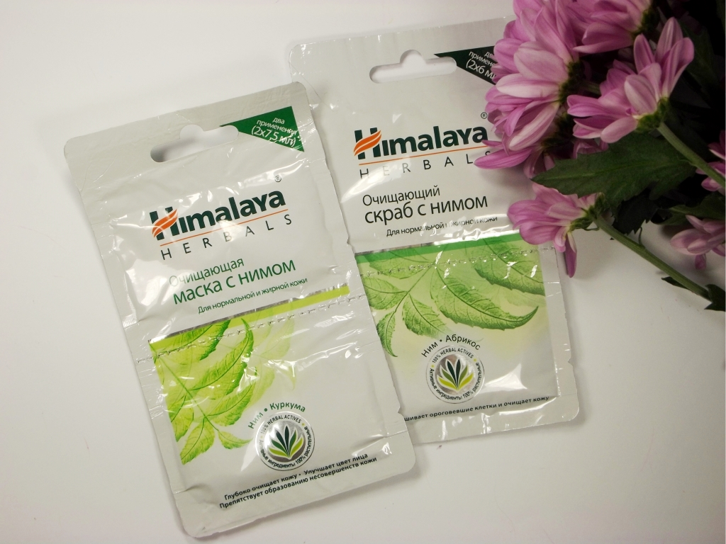 Himalaya Herbals Очищающая маска с нимом и Очищающий скраб с нимом