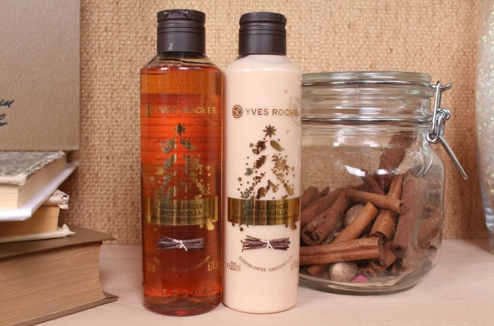 Yves Rocher Spicy Vanilla Shower&Bath Gel and Shimmering Body Lotion «Пряная ваниль» Гель для ванны/душа и Лосьон для тела