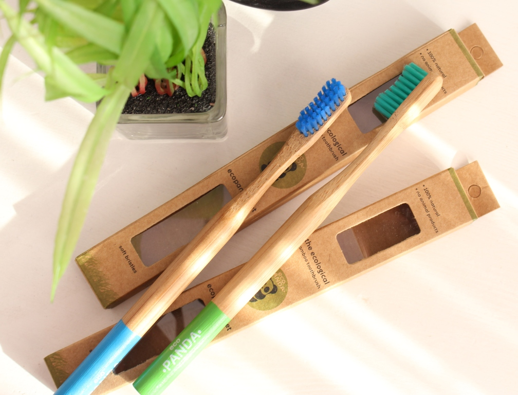 "Eсо Panda ""The Ecological"" Bamboo Toothbrush ""Soft Bristies"" Бамбуковая зубная ЭКО щетка"