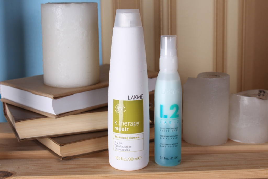 Lakme K.therapy Repair Revitalizing Shampoo & LAK 2 Instant Bi-Phase Hair Conditioner Шампунь и двух-фазный кондиционер