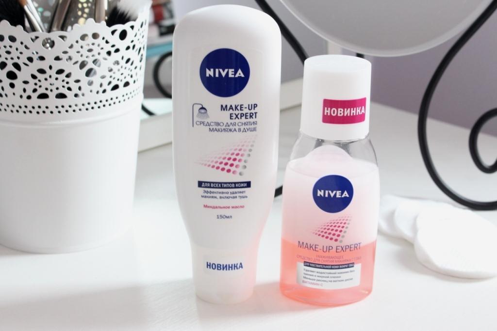 Nivea Make-Up Expert Новинки для демакияжа: Ухаживающее средство для снятия макияжа с глаз и Средство для снятия макияжа в душе