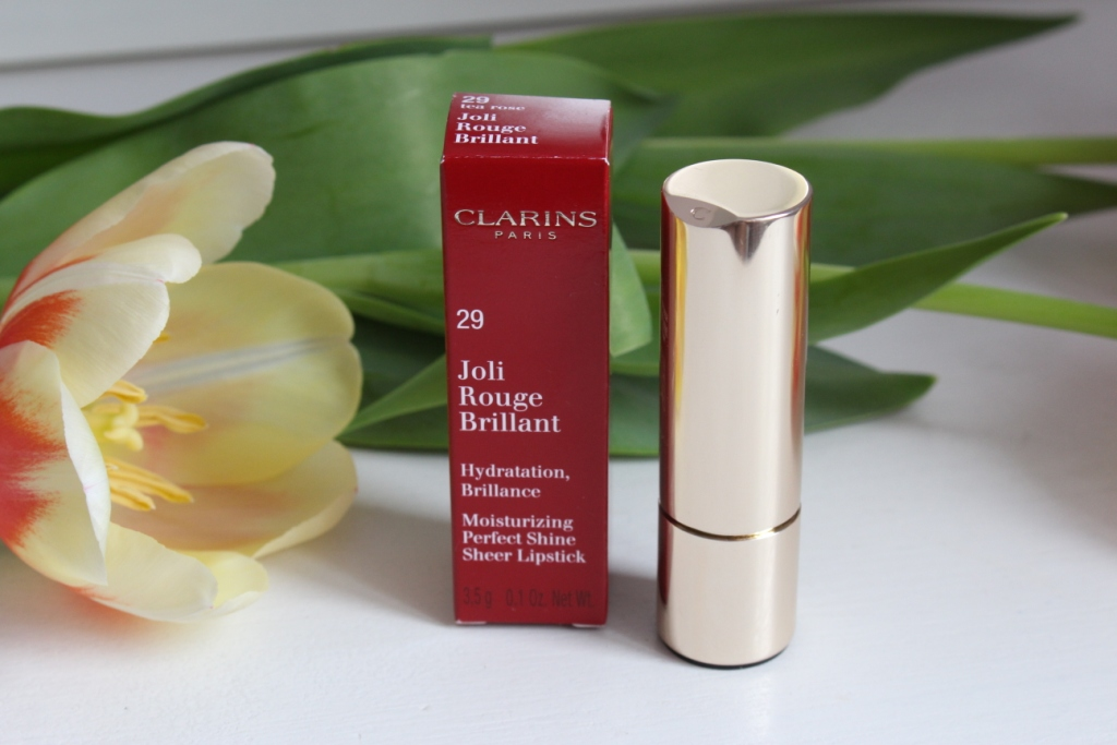 "Clarins Joli Rouge Brillant Lipstick Помада ""29 Tea Rose"""