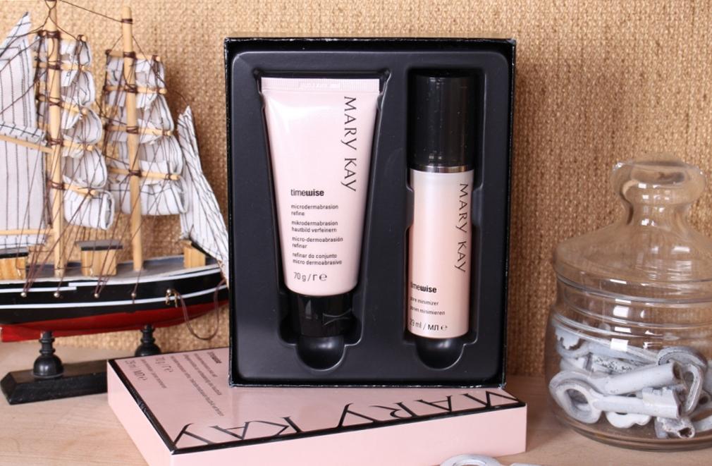 Mary Kay TimeWice Microdermabrasion Plus Set: Microdermabrasion Refine & Pore Minimizer Система восстановления кожи: Скраб и сыворотка для сужения пор