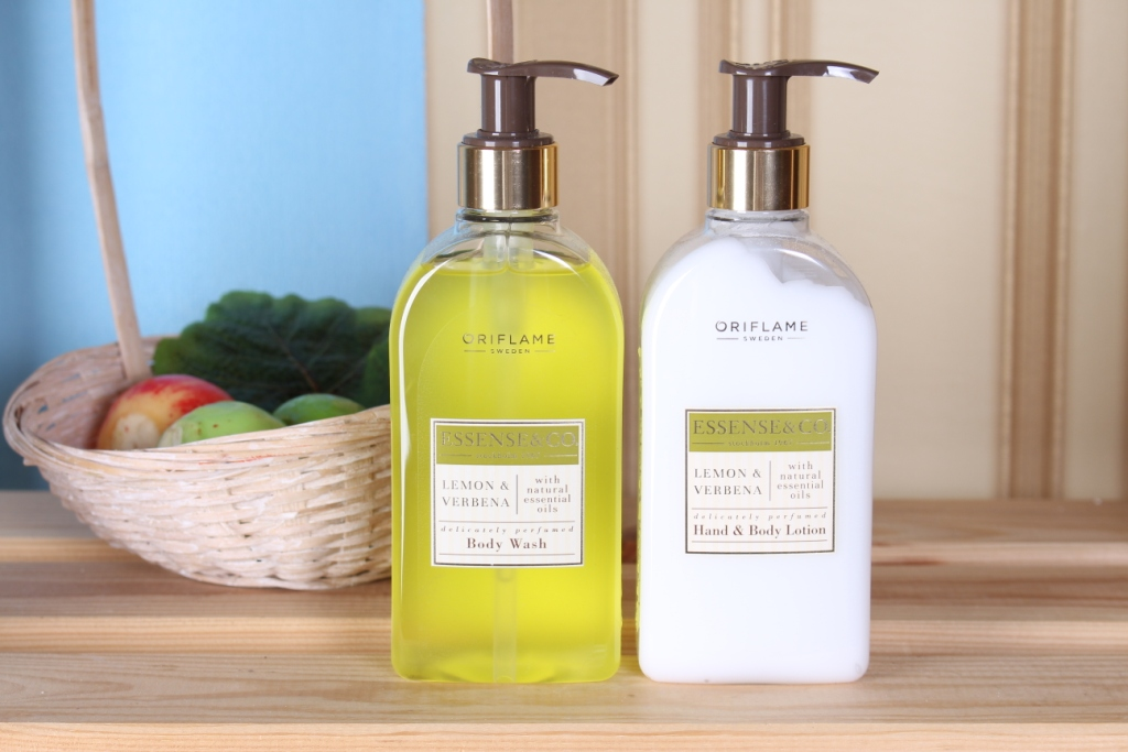 "Oriflame Essense&Co ""Lemon&Verbena"" Hand&body lotion and Body wash Лосьон для тела и рук, Гель для душа"