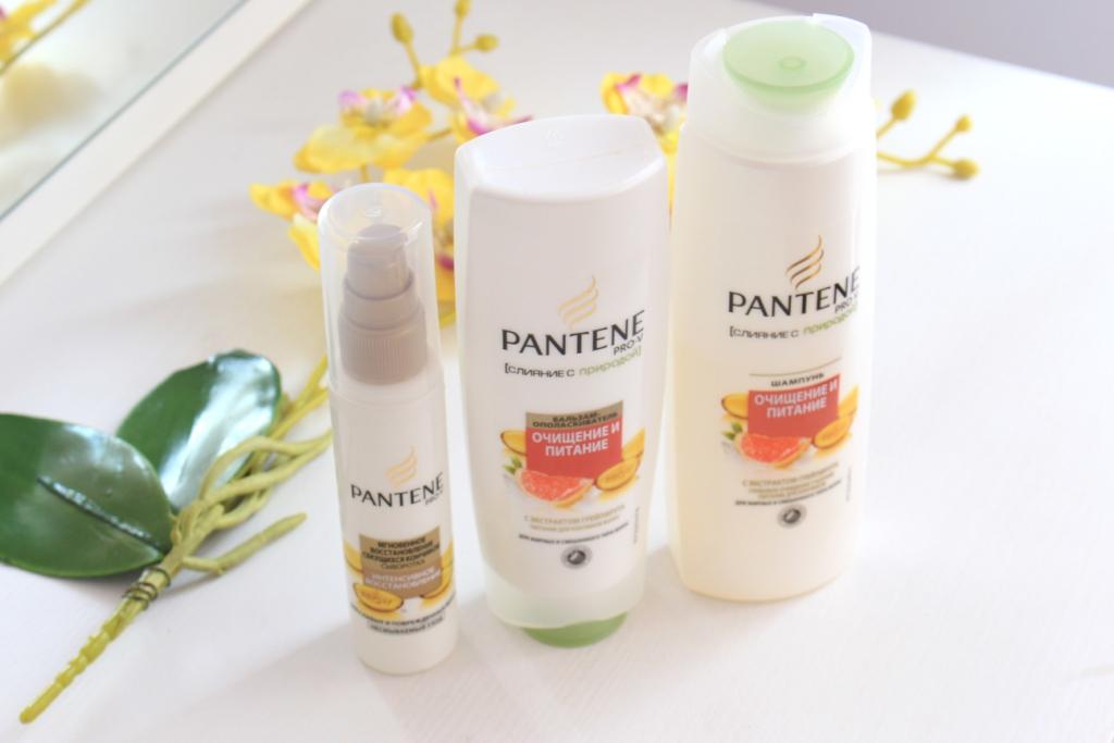 Pantene Pro-V «Очищение и питание» Шампунь и бальзам с экстрактом грейпфрута + Сыворотка для восстановления секушихся кончиков