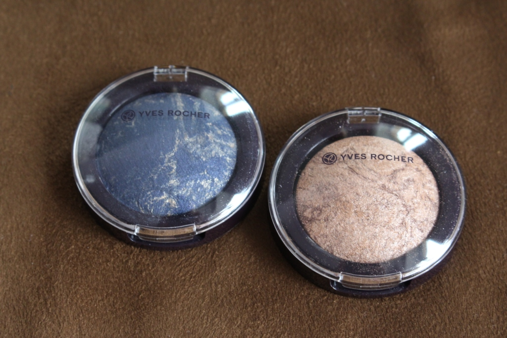 Yves Rocher Marbled Eyeshadow «Beige Kaki» & «Bleu Dore» Мраморные тени для век «Бежевый хаки» и «Голубое золото»