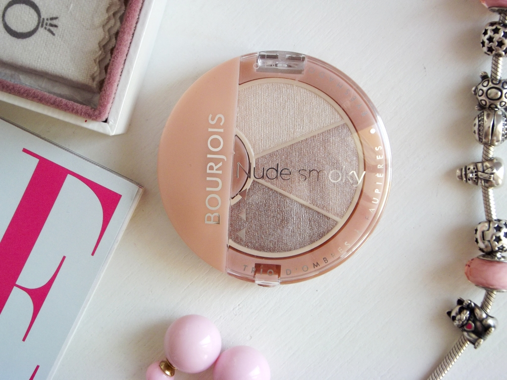 "Bourjois Nude Smoky Eyeshadow Trio ""19 Rose Boudoir"" Тройные тени для век"