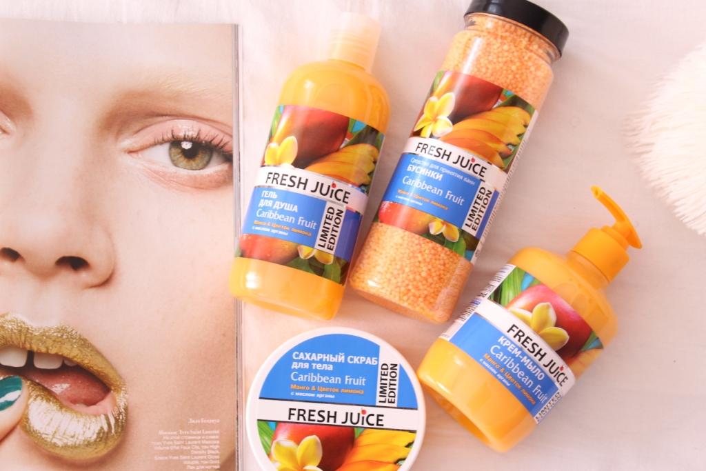 Fresh Juice Caribbean Fruit Limited Edition Манго и Цветок лимона с маслом арганы