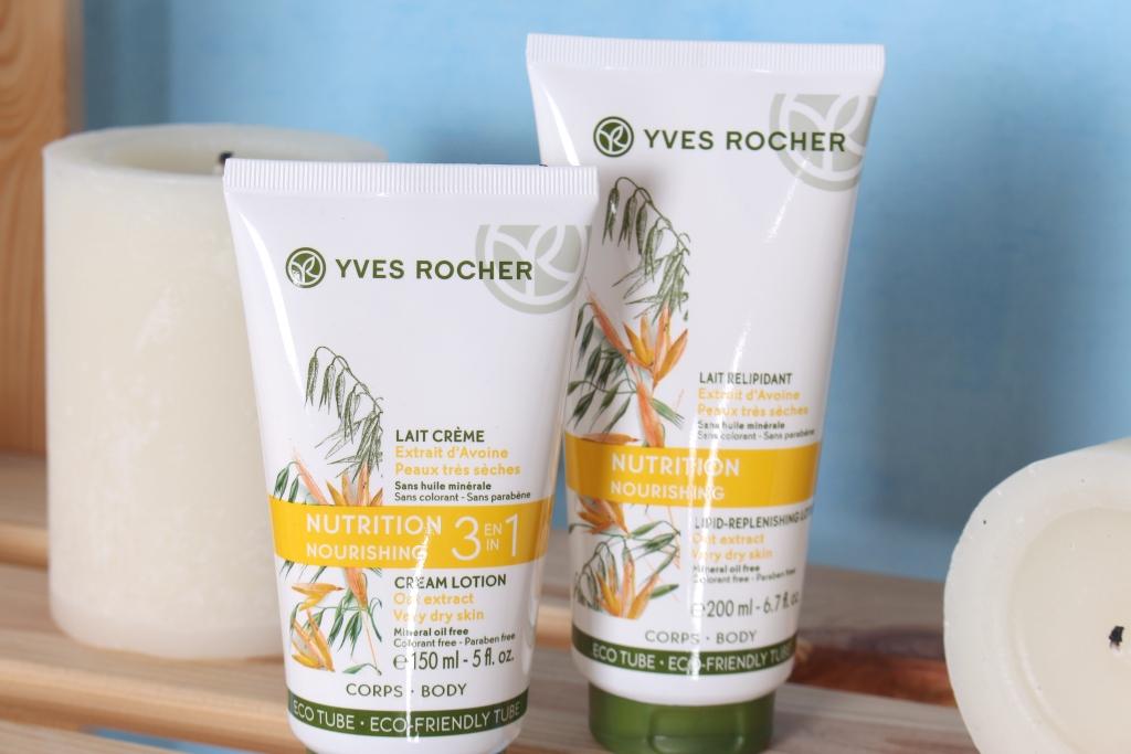 Yves Rocher Nourising Oat Extract Cream Lotion 3 in 1 & Lipid-Replenishing Lotion Питательный крем и Питательное молочко-крем 3 в 1 для тела с Экстрактом Овса