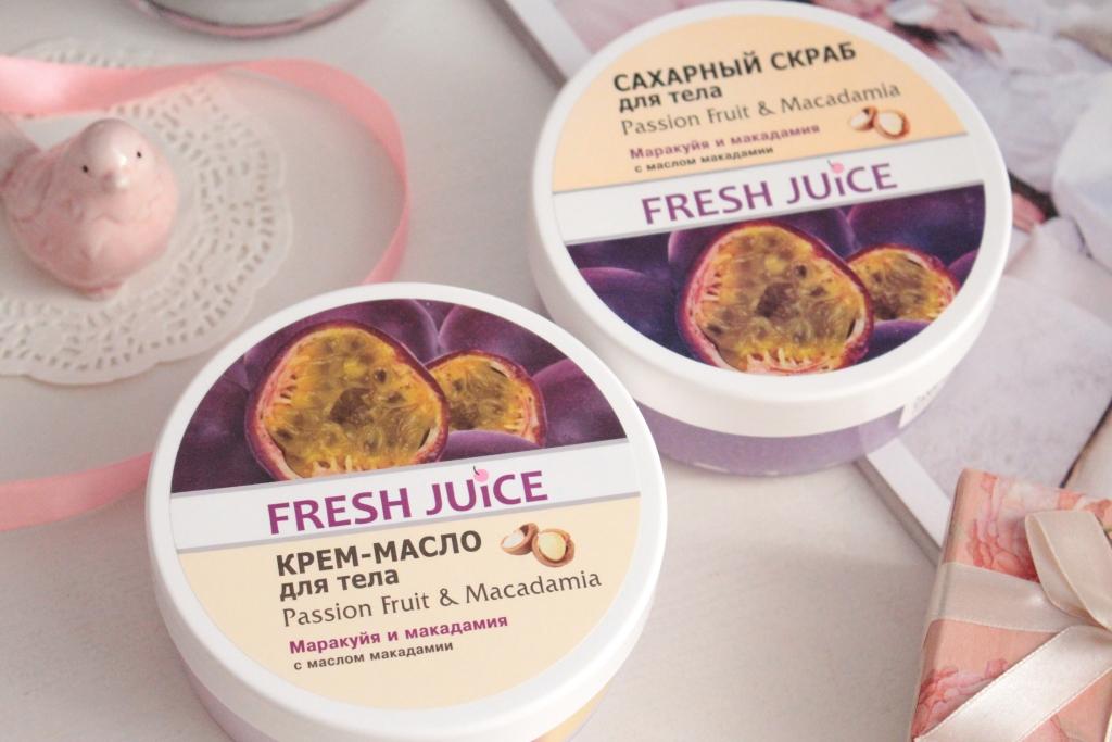 """Fresh Juice Passion Fruit&Macadamia Крем-масло и скраб для тела """"Маракуйя и Макадамия"""""""