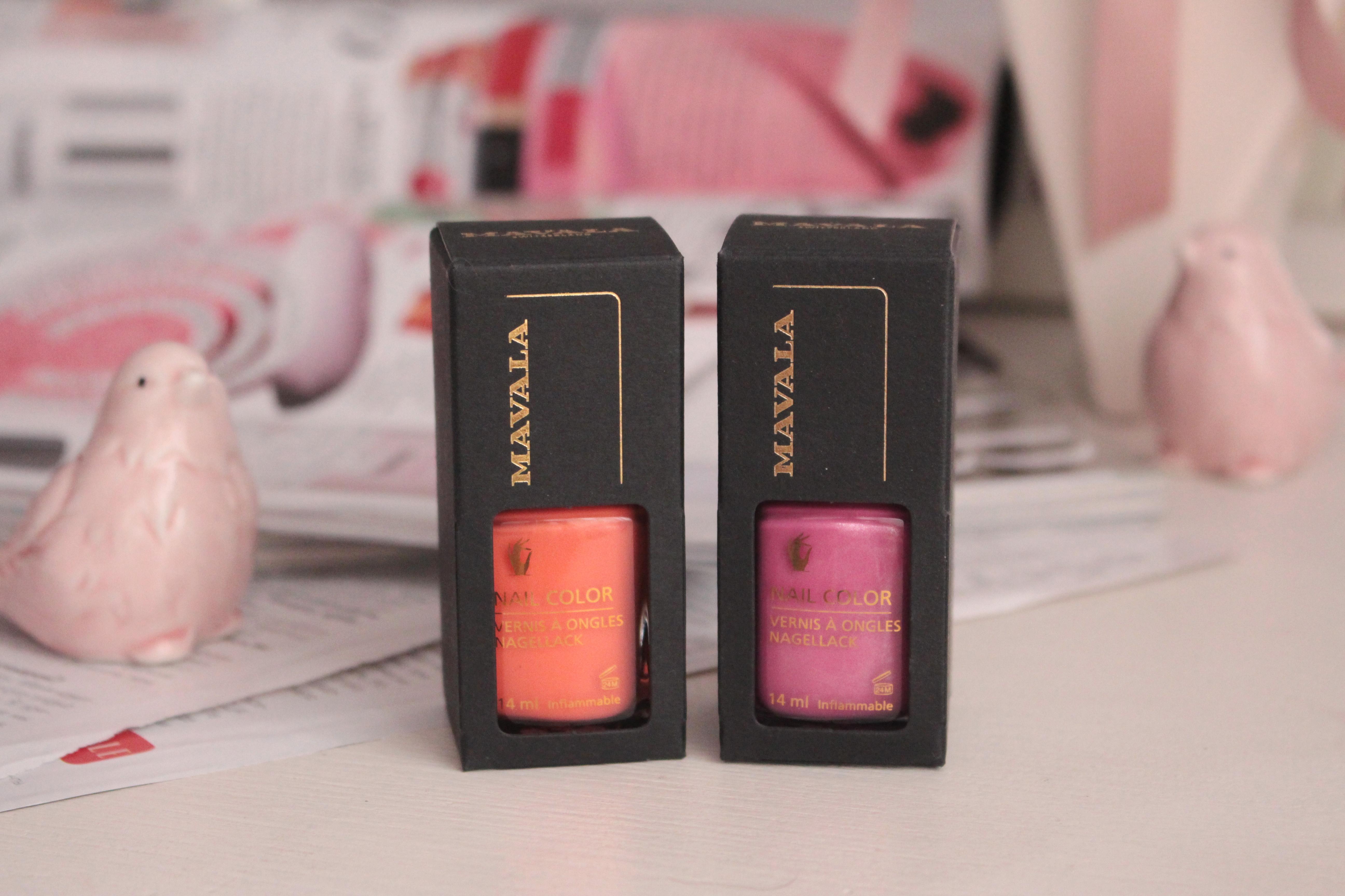 """Mavala Nail Color Nagellack """"262 Milky"""" & """"298 Graphic"""" Профессиональные лаки для ногтей"""