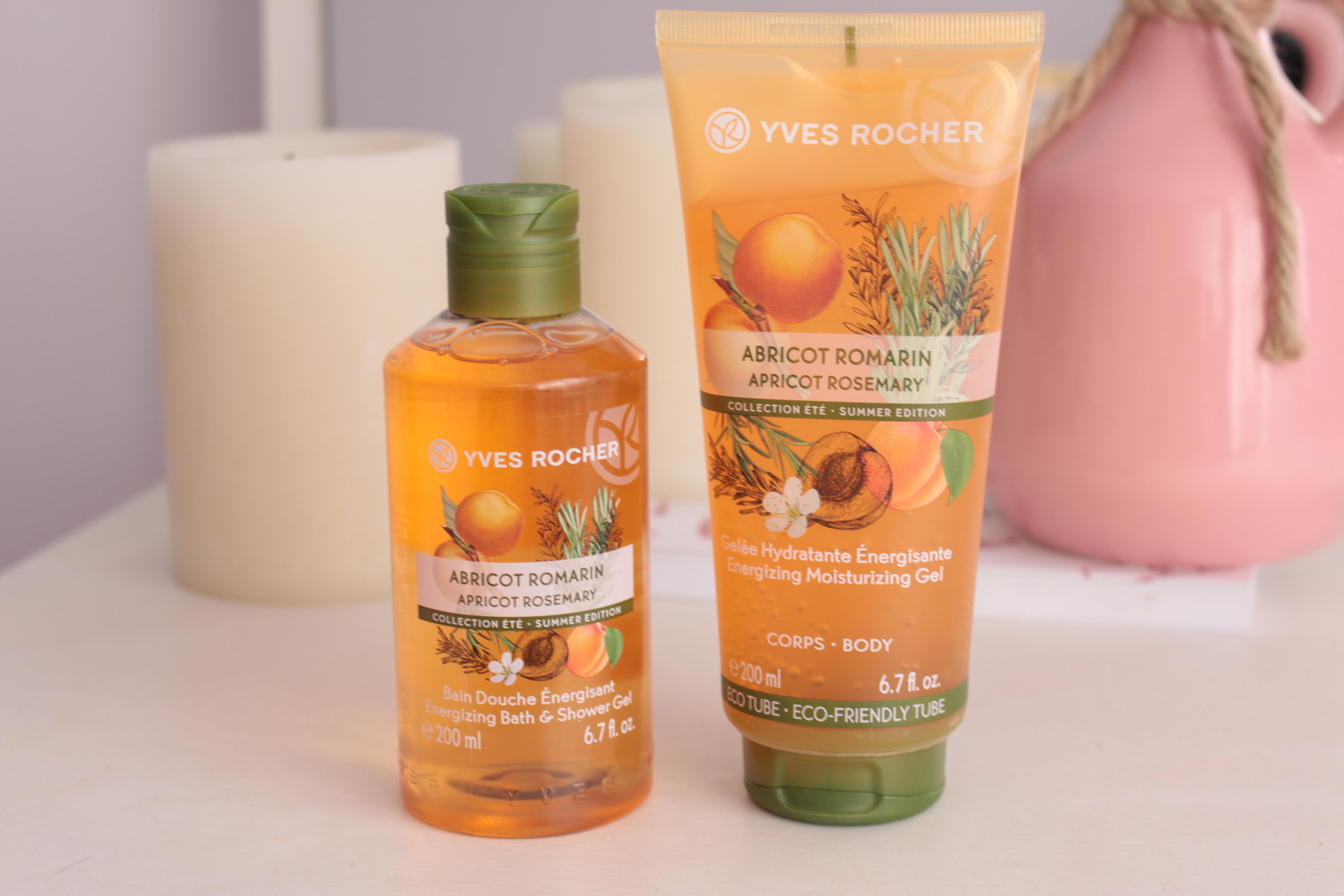 "Yves Rocher ""Apricot – Rosemary"" Лимитированная коллекция для ванны и душа ""Абрикос-розмарин"""