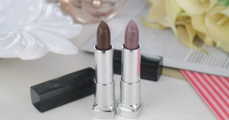 Два необычных оттенка Maybelline Color Sensational Matte Metallics Lipstick