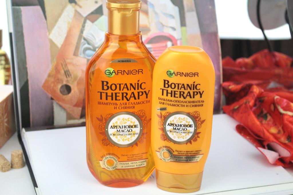 """Garnier Botanic Therapy """"Аргановое масло и экстракт камелии"""" Шампунь и бальзам"""