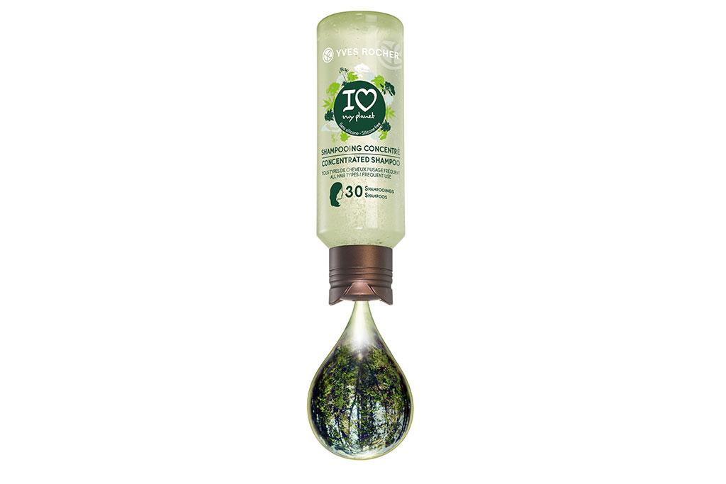 Yves Rocher Концентрированный Эко-шампунь для блеска волос