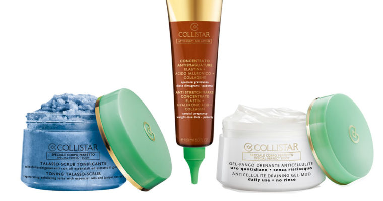 COLLISTAR TONING TALASSO-SCRUB, PURE ACTIVES ANTI STRETCH MARKS CONCENTRATE, ANTICELLULITE DRAINING GEL-MUD