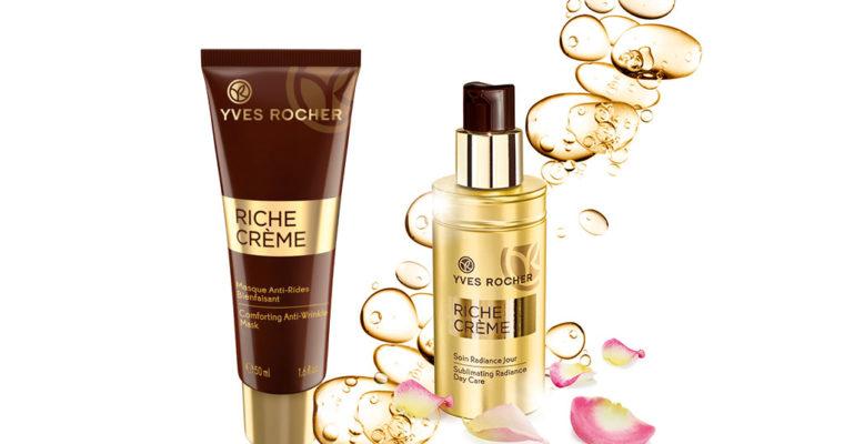 Yves Rocher Новинки линейки Riche Creme – Питательный уход-хайлайтер для лица и Питательная маска