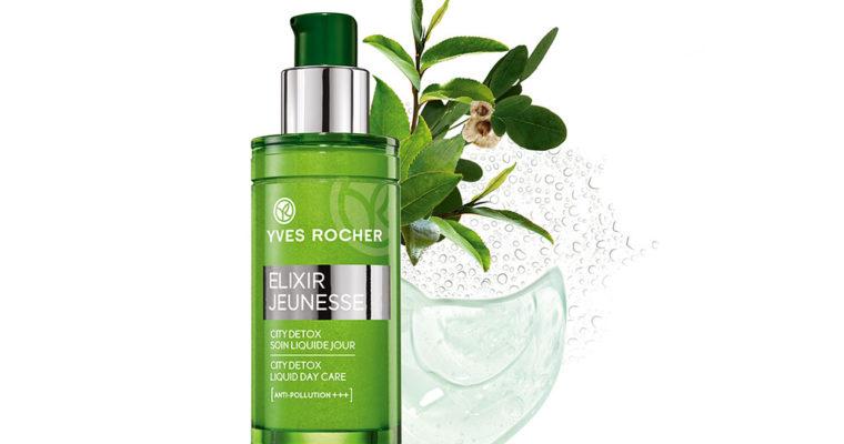 Yves Rocher Дневной Флюид для Лица «Детокс и восстановление»