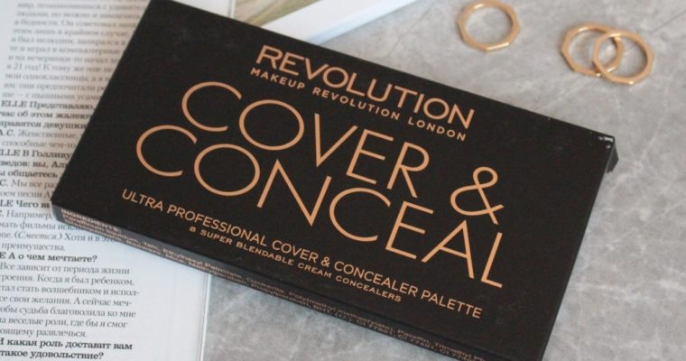 "Make Up Revolution ""Cover & Conceal"" Ultra Professional Cover & Concealer Palette ""Light-Medium"" Палетка коректоров"