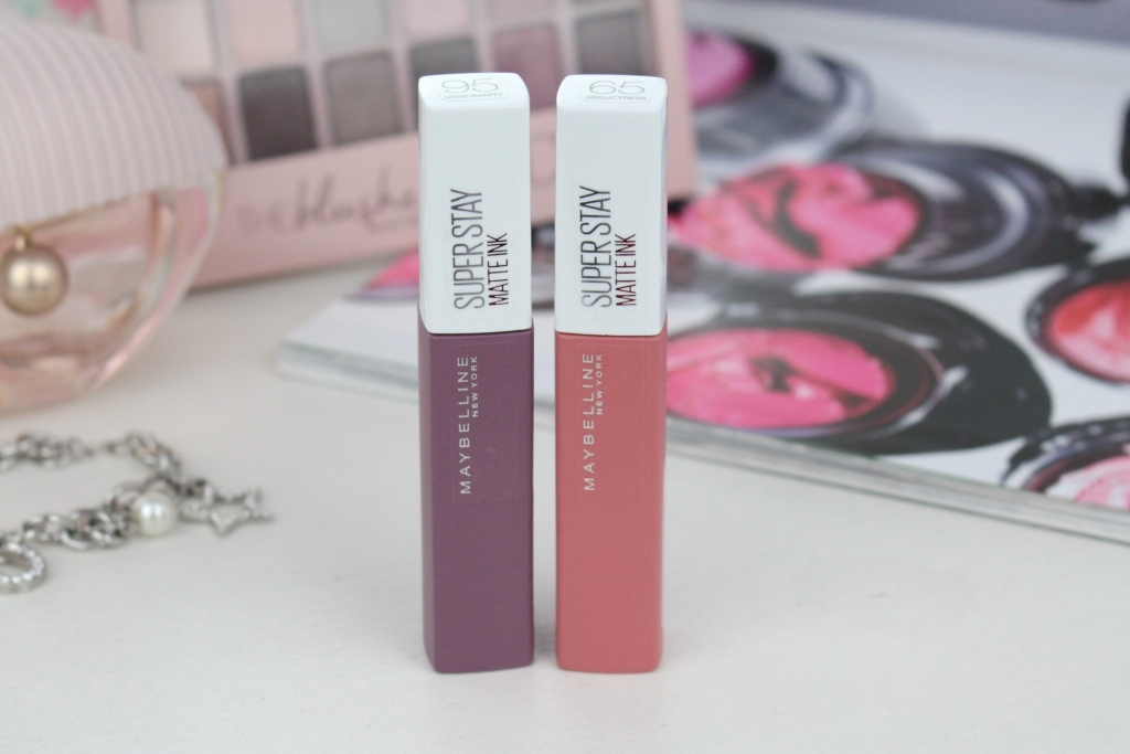 Maybelline Super Stay Matte Ink Жидкая матовая помада «95 Visionary» и «65 Seductress»