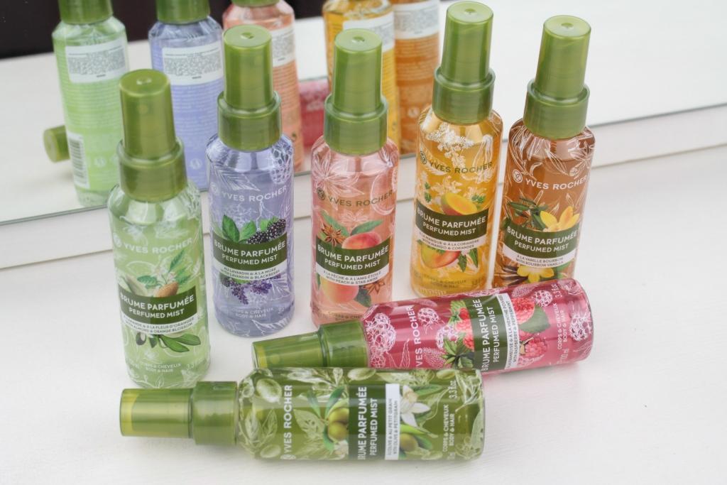 Yves Rocher Perfumed Mist Парфюмированные спреи для тела и волос