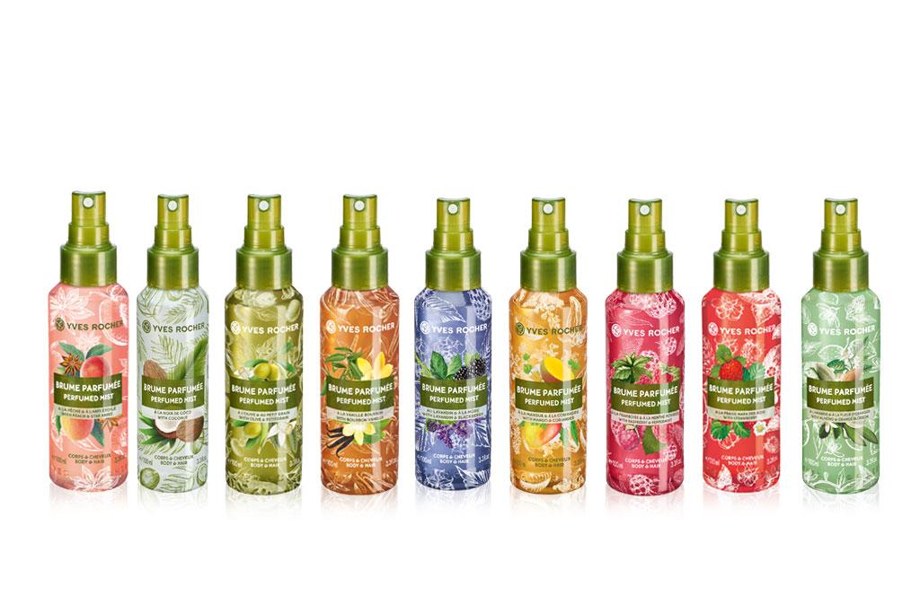 Yves Rocher Коллекция парфюмированных спреев для тела и волос