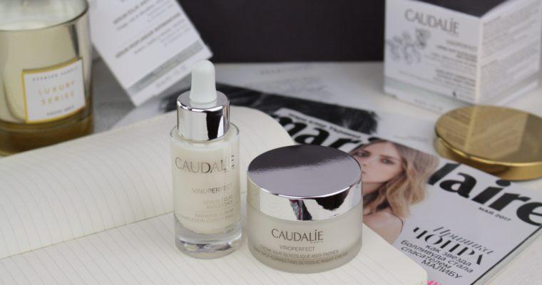 Caudalie Vinoperfect Radiance Serum Complexion Correcting & Dark Spot Correcting Glycolic Night Cream Сыворотка и Ночной Крем