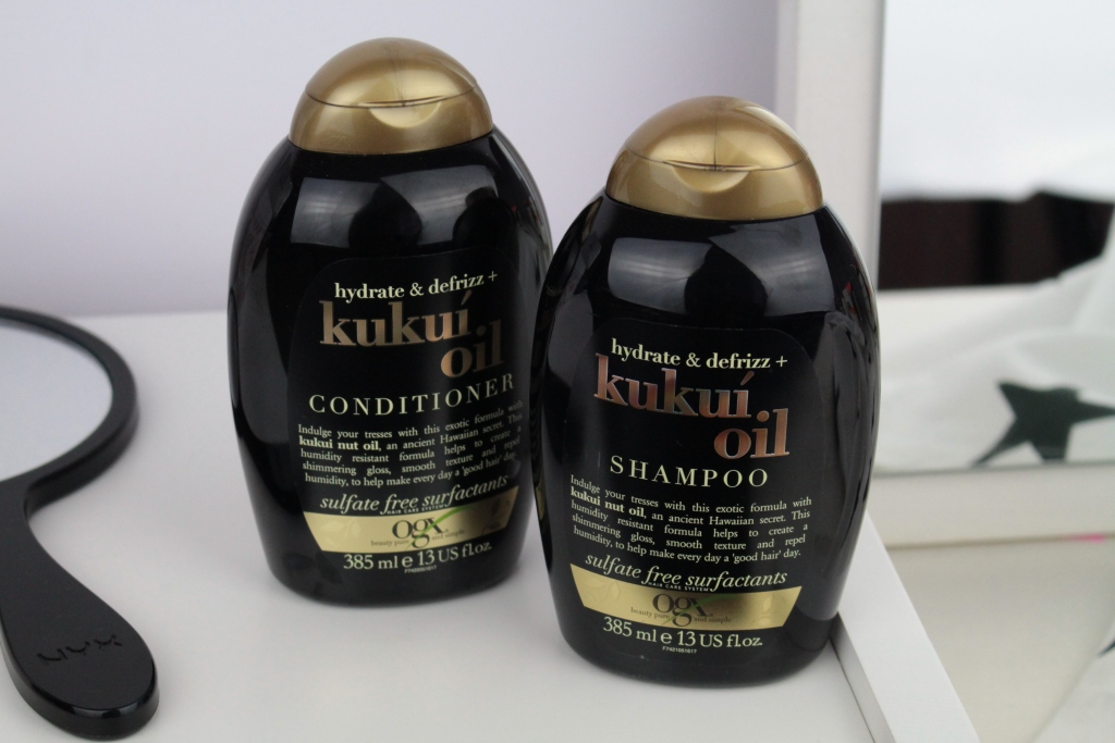 OGX Hydrate And Defrizz + Kukui Oil Shampoo & Conditioner