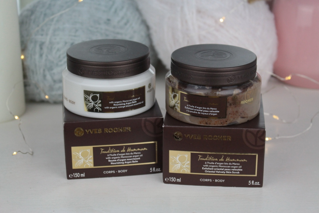 Yves Rocher Tradition De Hammam Oriental Velvety Skin Scrub & Nourishing Argan Balm Бальзам и скраб для тела