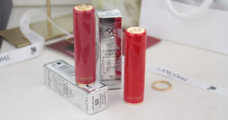 "Новые помады Lancome L'absolu Rouge Ruby Cream Lipstick ""01 Bad Blood Ruby"" и ""03 Kiss Me Ruby"""