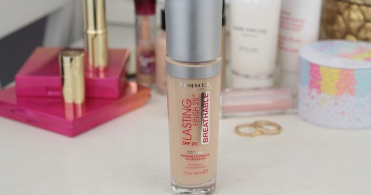 Rimmel Lasting Finish 25HR Breathable SPF20 Medium Coverage Foundation «100 Ivory» Тональная основа