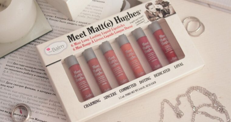 The Balm 6 Mini Long-Lasting Liquid Lipsticks Набор матовых помад