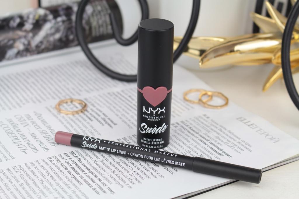 """NYX Professional Makeup Suede Matte Lipstick & Matte Lip Liner """"Lavander And Lace"""" Помада и карандаш"""