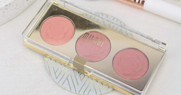 "Milani Rose Powder Blush Trio Palette Палетка румян ""02 Floral Fantasy"""