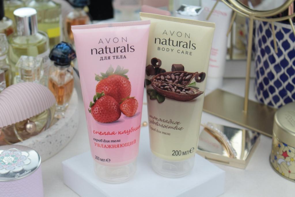 """Avon Naturals Скрабы для тела """"Спелая клубника"""" и """"Шоколадное удовольствие"""""""