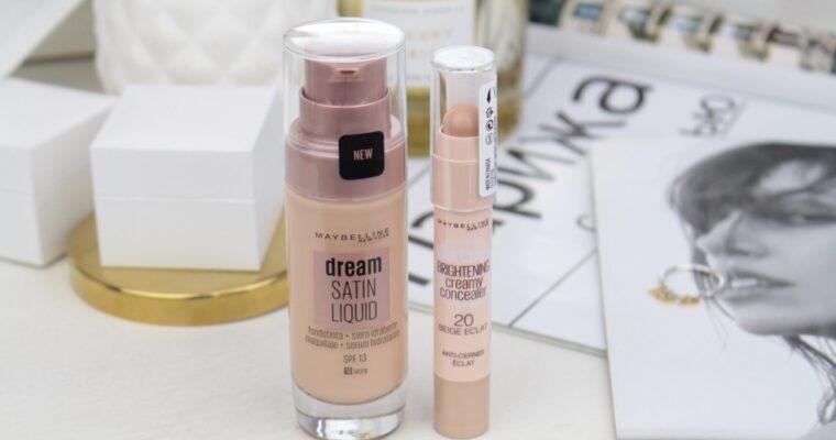 "Maybelline Dream Satin Liquid Foundation + Hydrating Serum ""10 ivory"" Тональная основа & Maybelline Brightening Creamy Concealer ""20 Light"" Консилер"