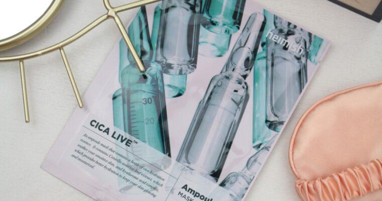 Heimish Cica Live Ampoule Mask Sheet Hydrating Маска для лица
