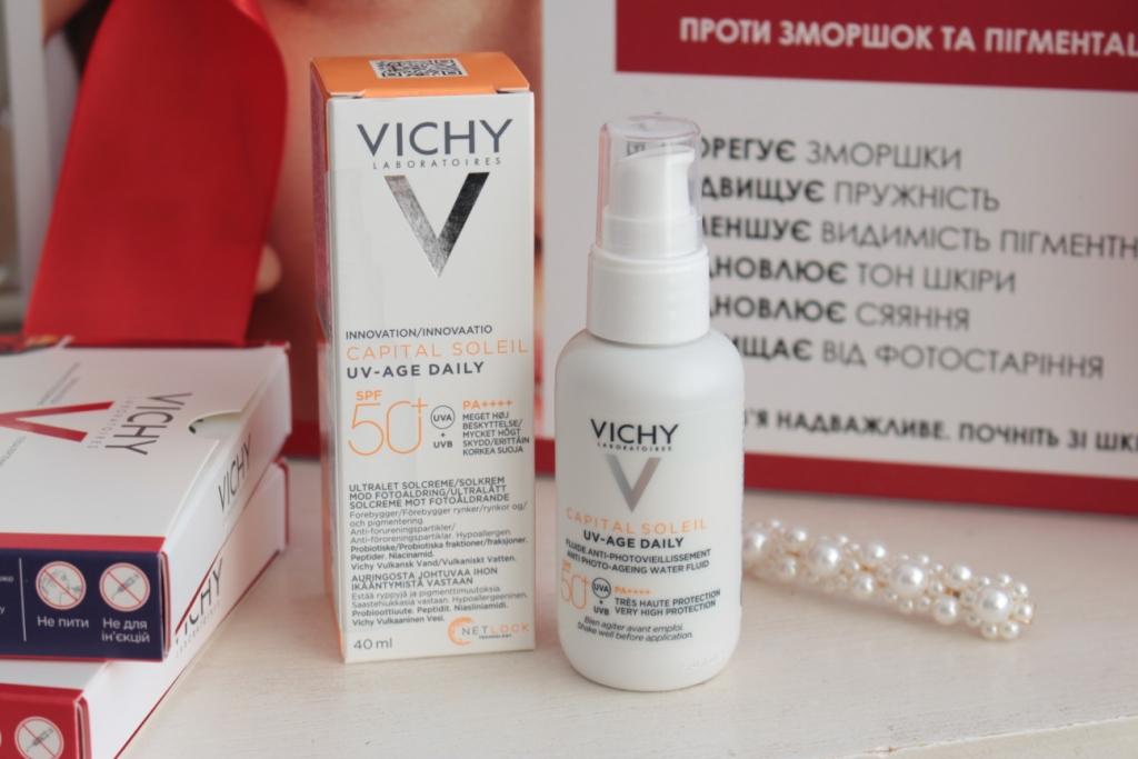Новинка Vichy: Солнцезащитный флюид для лица Capital Soleil UV-Age Daily Anti Photo-Aging Water Fluid
