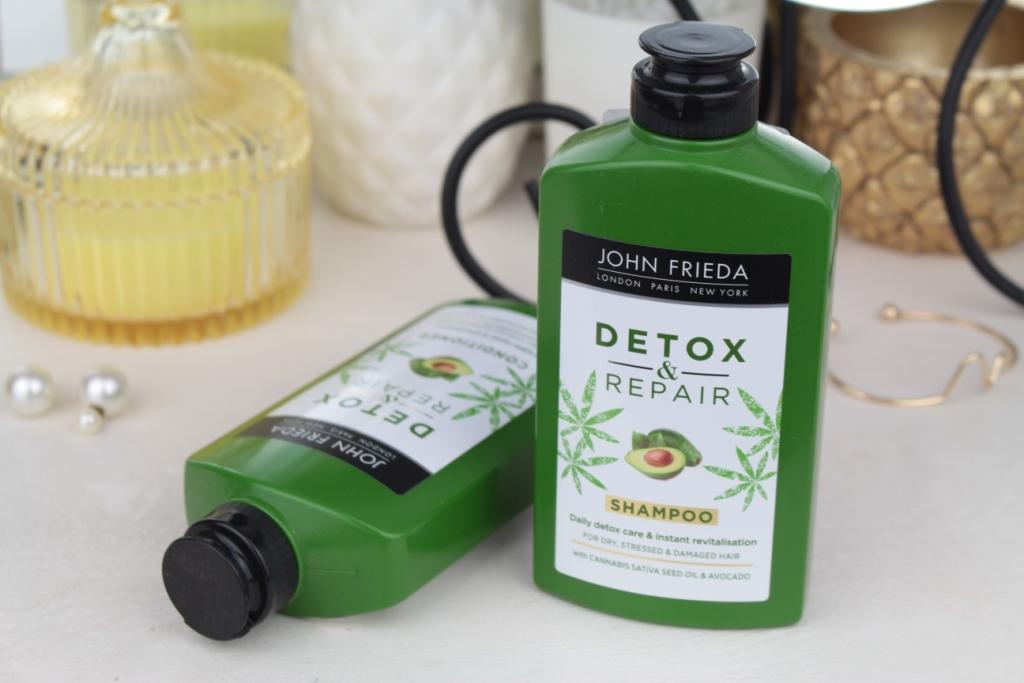 John Frieda Detox & Repair Shampoo & Conditioner Линейка для сухих, поврежденных волос