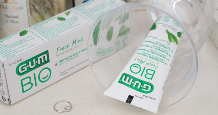 "GUM BIO Organic Certified Toothpaste With Fluoride ""Fresh Mint With Aloe Vera"" Органическая зубная паста"