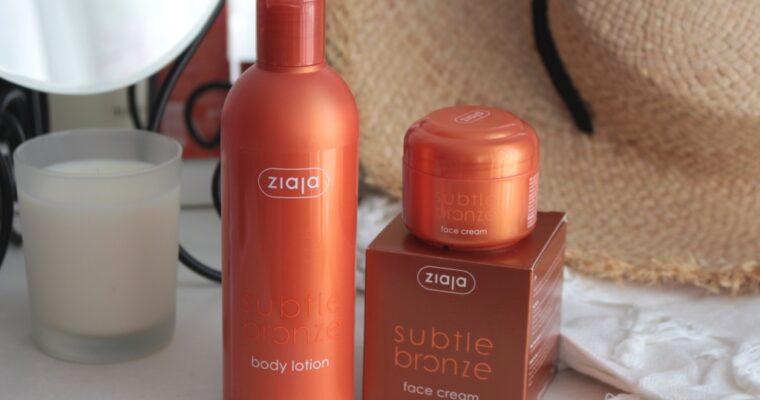 Ziaja Subtle Bronze Линия для создания искусственного загара на коже