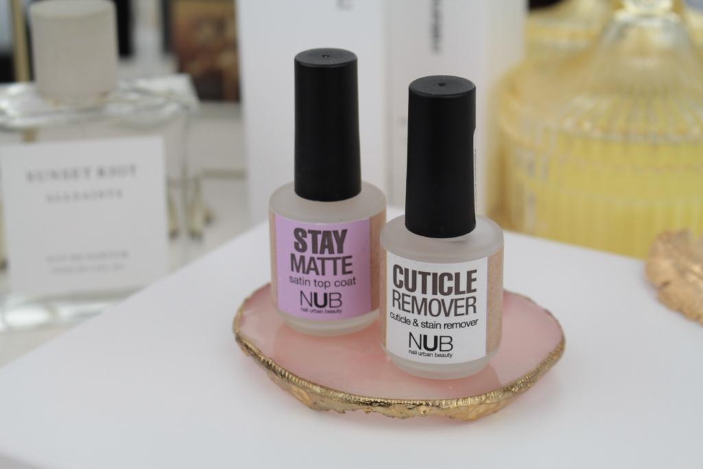 "NUB – ""Stay Matte"" Satin Top Coat Матовый топ & Cuticle Remover Средство для удаления кутикулы"